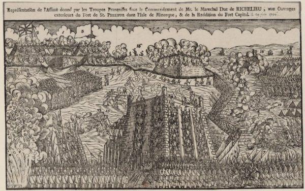 La salida de las tropas británicas del Fuerte San Felipe de Menorca