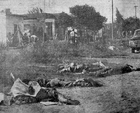 Los cuerpos sin vida de los indígenas sembraban la tierra