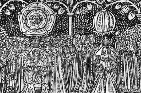 Coronación de Enrique VIII y Catalina de Aragón.