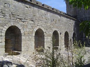 Restos romanos muralla Carcasona
