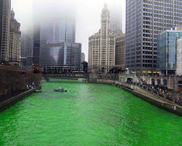 Día de San Patricio río verde