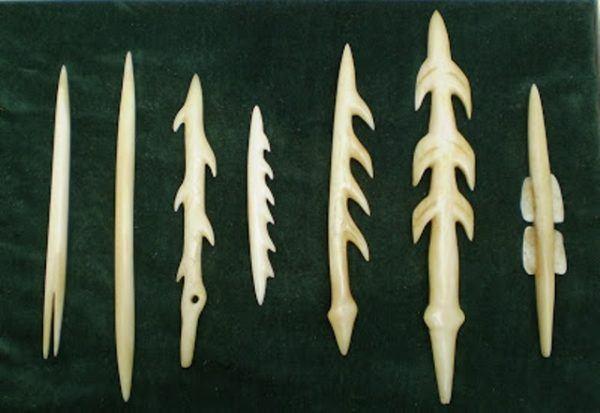 Azagayas paleolítico