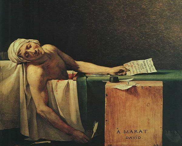Muerte-Marat-Personajes-Revolución-Francesa