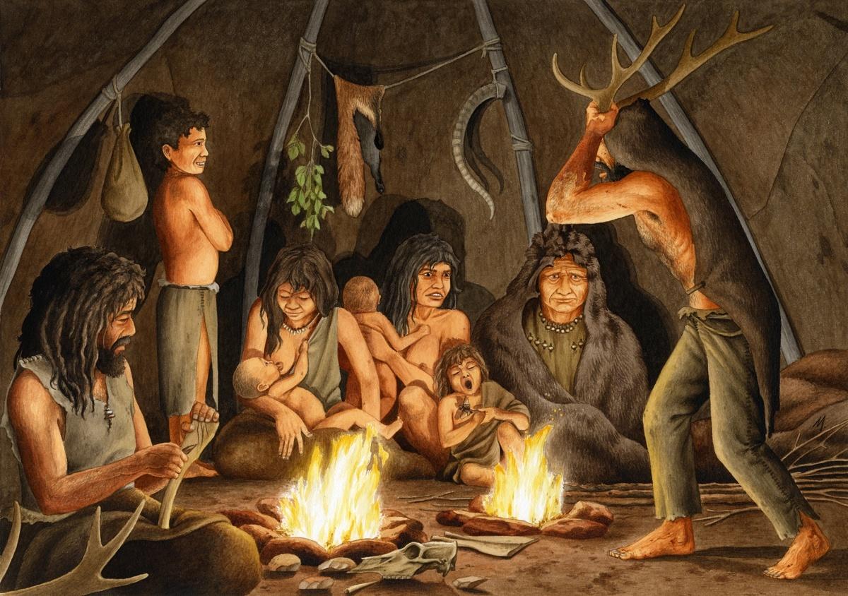 prehistoria-cazadores-y-recolectores-del-paleolitico-como-vivian-dentro-de-una-cueva
