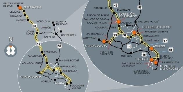 revolución-mexicana-mapa-de-la-ruta-de-hidalgo