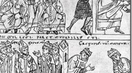 la Iglesia Medieval enfrenta al Sacro Imperio Romano Germanico