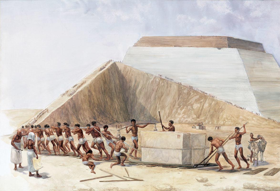 Resultado de imagen para construccion piramides de egipto