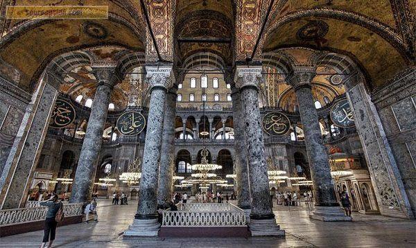 Hagia sofía columnas Artemisa