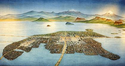 La gran ciudad azteca de Technoctilán