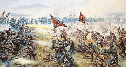 image Representación de batalla: La Unión (izquierda) frente a la Confederación (derecha)