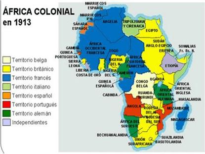 Mapa Colonial De Africa.El Reparto Colonial De Africa Sobrehistoria Com