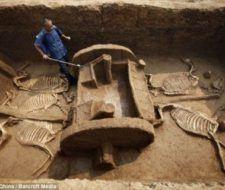 Descubren en China un carro fúnebre de la dinastía Zhou, intacto de hace 3000 años