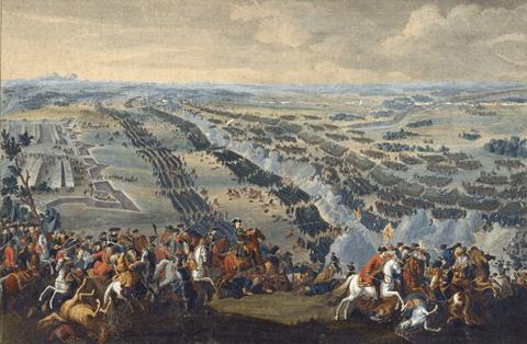 La Batalla de Poltava, por Denis Martens el Joven (1726). Via: Wikimedia Commons