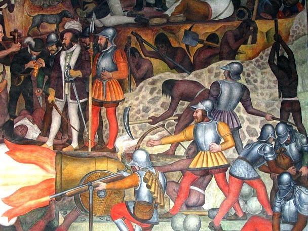 Estados nacionales for Diego rivera la conquista mural