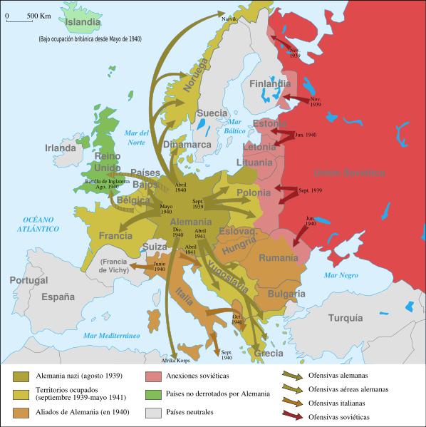mapa politico segunda guerra mundial