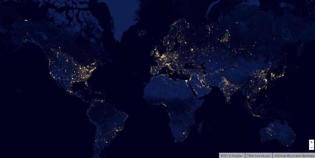 explora-la-historia-del-mundo-con-la-google-maps-gallery-o-galeria-de-google-mapas-mundo-de-noche
