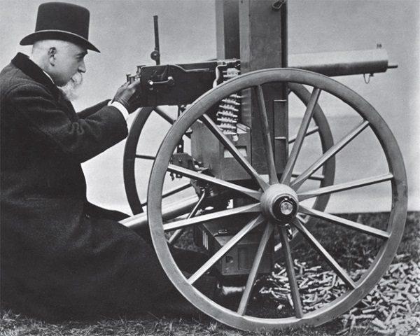 Invento metralleta revolución industrial