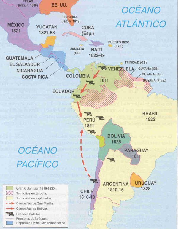 america-latina-la-formacion-de-los-estados-nacionale-mapa-independencia-años