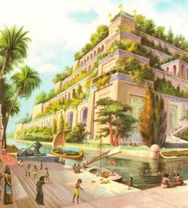 7 maravillas del mundo antiguo for Los jardines colgantes de babilonia