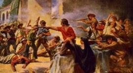 La batalla de El Álamo