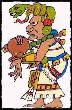 Ahan Chamahez, dios de la medicina. Era el curandero o sanador más destacado en el ámbito de la medicina maya.