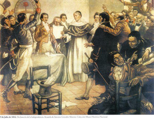 Con la Independencia de Argentina de España, las Malvinas quedaron bajo juridisción Argentina