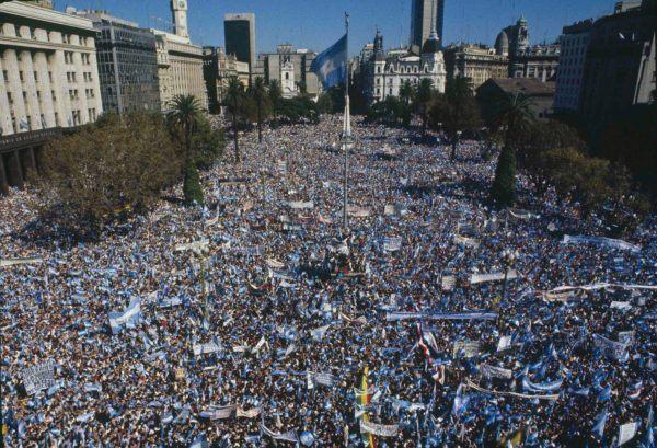 Manifestación del 30 aniversario de la guerra de las Malvinas