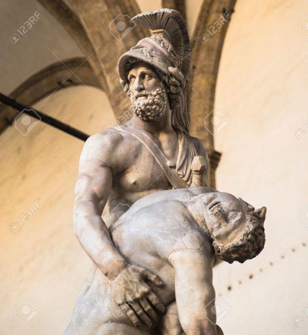 Menelao sostiene el cuerpo sin vida de Patroclo