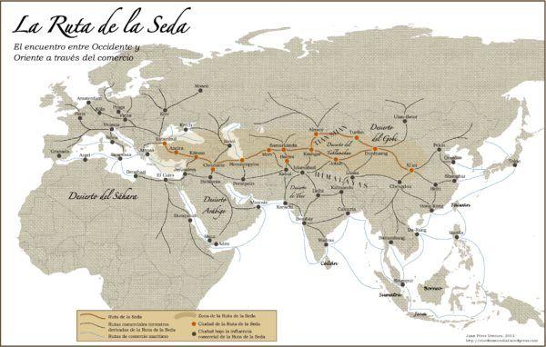 Las distintas rutas de la Seda y de las Especias