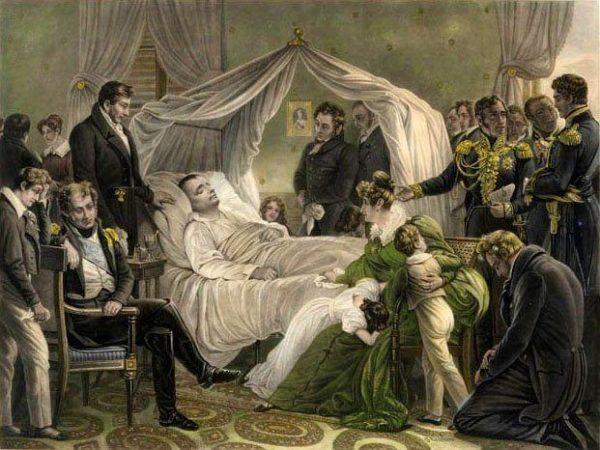 Muerte de Napoleón el 5 de mayo de 1821