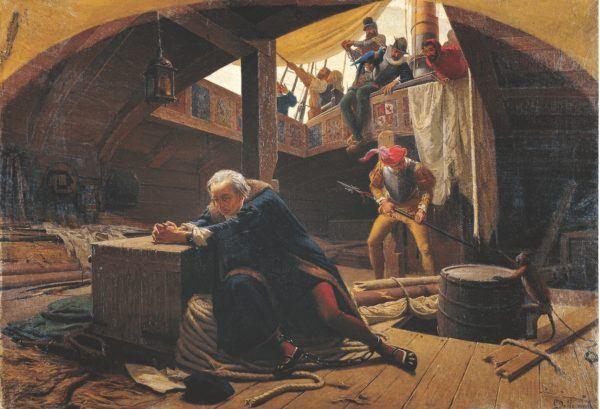 Colón de regreso a España en calidad de detenido