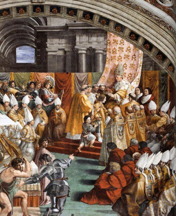 Coronación de Carlomagno por el papa Leon III