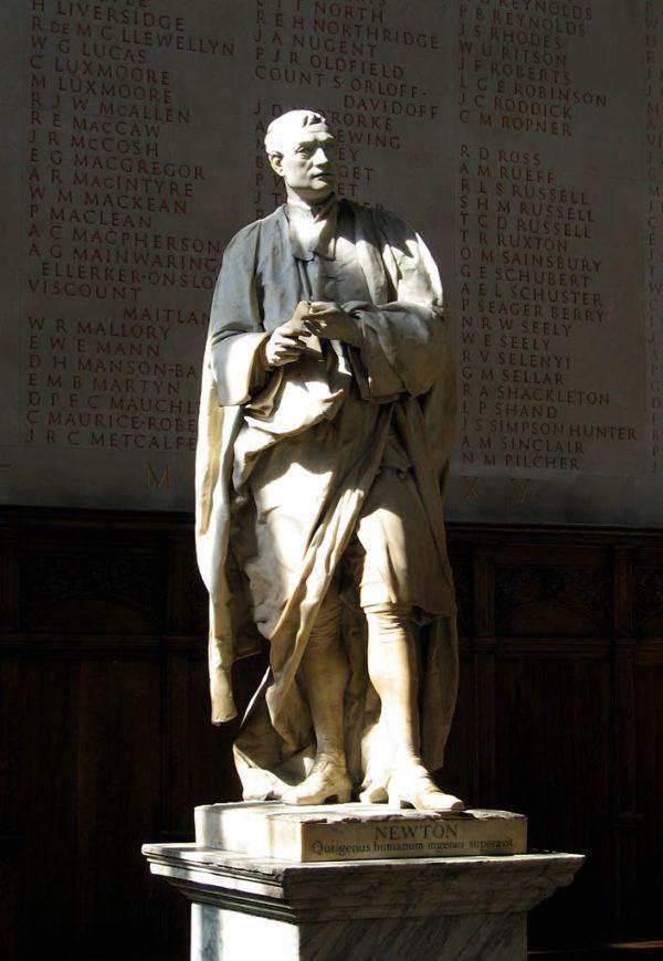 la-ilustracion-estatua-isaac-newton