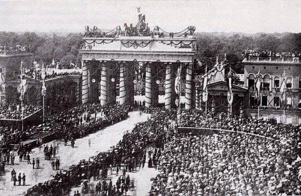 Celebración por la victoria en la guerra franco-prusiana