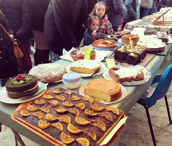Dulces en la fiesta del Magosto en Vigo