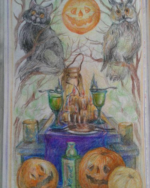 Dibujo de Halloween-Samhain