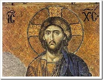 cristo, mosaico en santa sofia, circa 1280