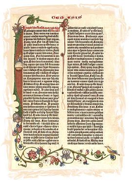 Libro del Génesis de la Biblia de Gutenberg