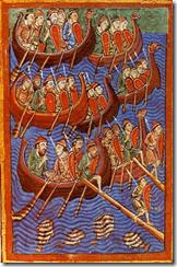 representación de los vikingos del silo IX