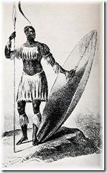 ünico grabado conocido de Shaka Zulu