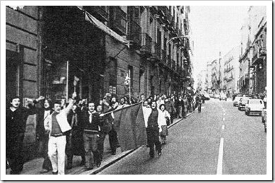 manifestacion contra el regimen franquista 1968