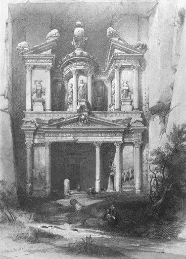 Petra, grabado de Roberts
