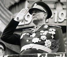 Tito, el gran mariscal yugoslavo.
