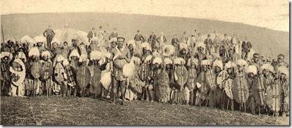Guerreros zulúes. Fuente: Wikipedia